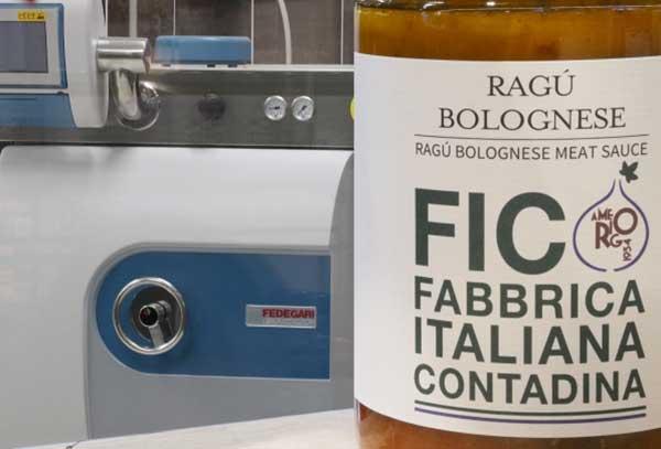 Sterilizzatore Fedegari – Amerigo Fabbrica dei Sughi – Eataly World Parco FICO Bologna